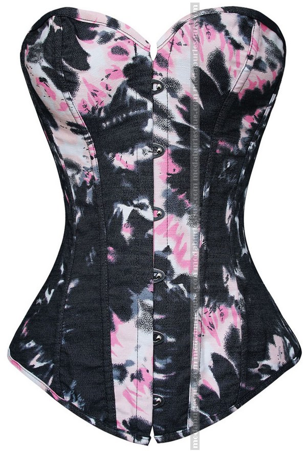 Corsetto Denim floral pink