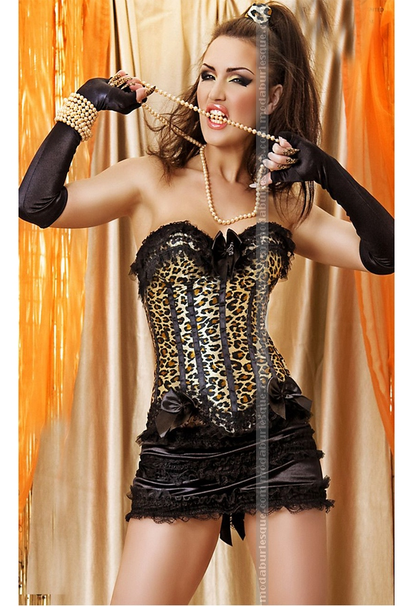 Completo burlesque leopard