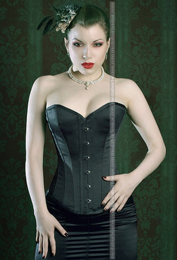 Corsetto dark saten