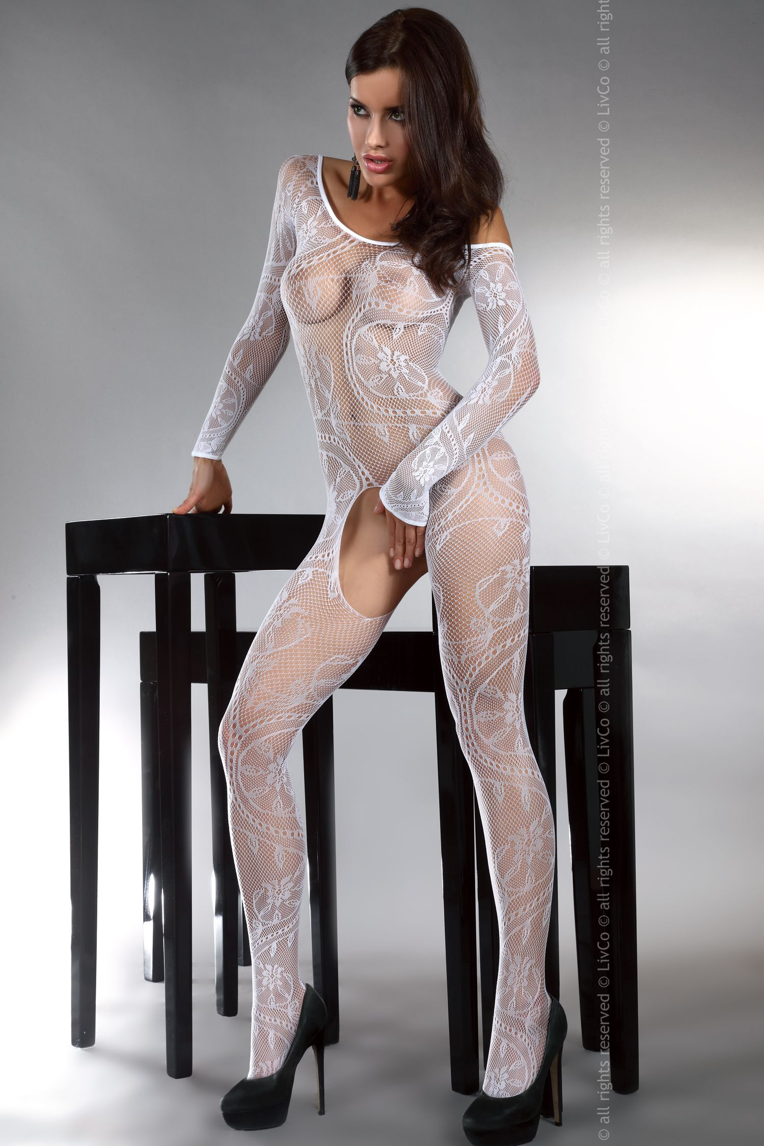 Body stocking Abra White