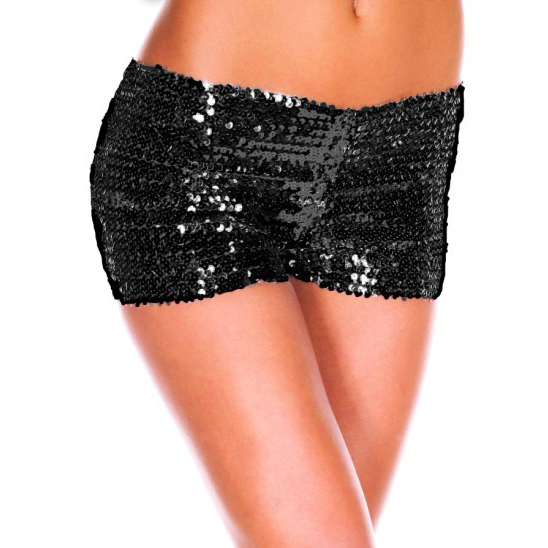 Shorts paillettes nero